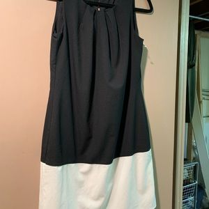 New black / cream dress Camaieu